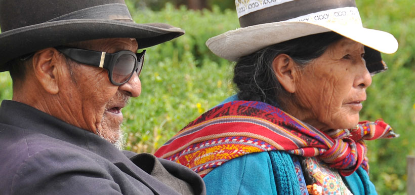 Elderly couple of Peru